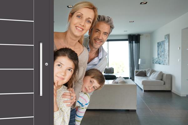 exklusive haust r aus aluminium dica fenster. Black Bedroom Furniture Sets. Home Design Ideas